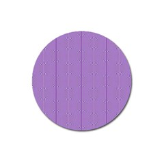 Mod Twist Stripes Purple And White Magnet 3  (round) by BrightVibesDesign