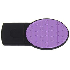 Mod Twist Stripes Purple And White Usb Flash Drive Oval (4 Gb) by BrightVibesDesign