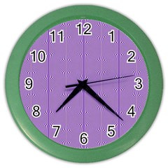 Mod Twist Stripes Purple And White Color Wall Clocks by BrightVibesDesign