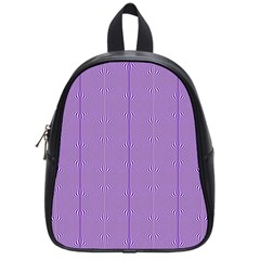 Mod Twist Stripes Purple And White School Bag (small) by BrightVibesDesign