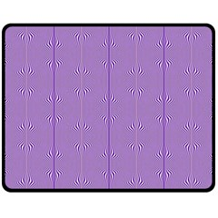 Mod Twist Stripes Purple And White Fleece Blanket (medium)  by BrightVibesDesign