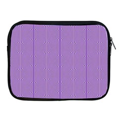 Mod Twist Stripes Purple And White Apple Ipad 2/3/4 Zipper Cases by BrightVibesDesign