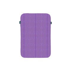 Mod Twist Stripes Purple And White Apple Ipad Mini Protective Soft Cases by BrightVibesDesign