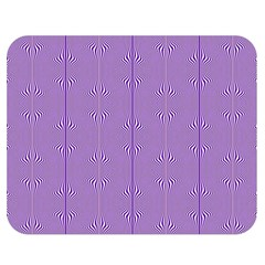 Mod Twist Stripes Purple And White Double Sided Flano Blanket (medium)  by BrightVibesDesign