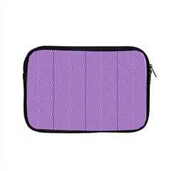 Mod Twist Stripes Purple And White Apple Macbook Pro 15  Zipper Case by BrightVibesDesign
