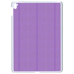 Mod Twist Stripes Purple And White Apple Ipad Pro 9 7   White Seamless Case by BrightVibesDesign