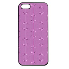 Mod Twist Stripes Pink And White Apple Iphone 5 Seamless Case (black) by BrightVibesDesign