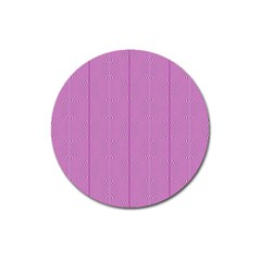 Mod Twist Stripes Pink And White Magnet 3  (round) by BrightVibesDesign