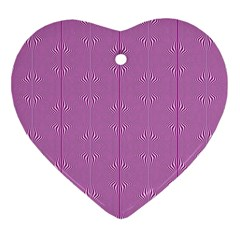 Mod Twist Stripes Pink And White Heart Ornament (two Sides) by BrightVibesDesign