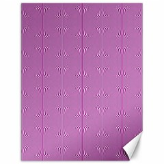 Mod Twist Stripes Pink And White Canvas 12  X 16   by BrightVibesDesign