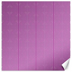 Mod Twist Stripes Pink And White Canvas 16  X 16   by BrightVibesDesign