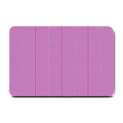 Mod Twist Stripes Pink And White Small Doormat  by BrightVibesDesign