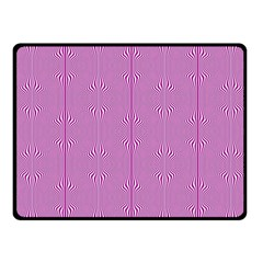 Mod Twist Stripes Pink And White Fleece Blanket (small) by BrightVibesDesign