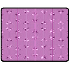 Mod Twist Stripes Pink And White Double Sided Fleece Blanket (medium)  by BrightVibesDesign