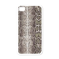 Snake Skin Apple Iphone 4 Case (white) by LoolyElzayat