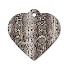 Snake Skin Dog Tag Heart (one Side) by LoolyElzayat