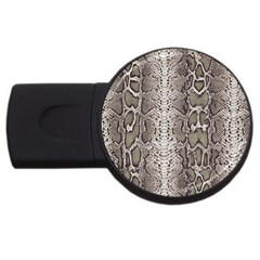 Snake Skin Usb Flash Drive Round (4 Gb)