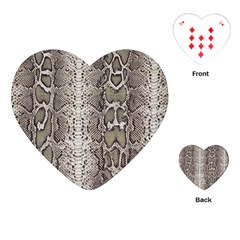 Snake Skin Playing Cards (heart)