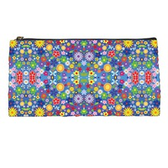 Colorful Flowers Pencil Cases by LoolyElzayat