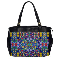 Colorful Flowers Office Handbags