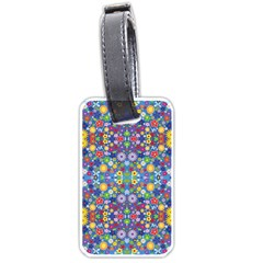 Colorful Flowers Luggage Tags (one Side)