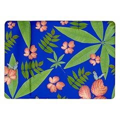 Leaves On Blue Samsung Galaxy Tab 10 1  P7500 Flip Case by LoolyElzayat