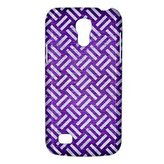 Woven2 White Marble & Purple Brushed Metal Galaxy S4 Mini by trendistuff