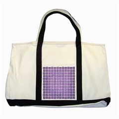 Woven1 White Marble & Purple Brushed Metal (r) Two Tone Tote Bag by trendistuff