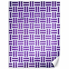 Woven1 White Marble & Purple Brushed Metal (r) Canvas 18  X 24   by trendistuff