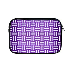 Woven1 White Marble & Purple Brushed Metal Apple Ipad Mini Zipper Cases by trendistuff