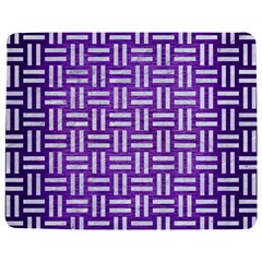 Woven1 White Marble & Purple Brushed Metal Jigsaw Puzzle Photo Stand (rectangular) by trendistuff