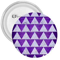 Triangle2 White Marble & Purple Brushed Metal 3  Buttons by trendistuff