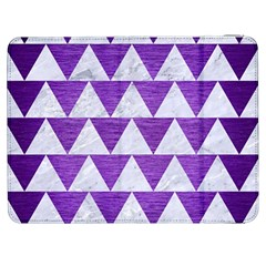 Triangle2 White Marble & Purple Brushed Metal Samsung Galaxy Tab 7  P1000 Flip Case by trendistuff