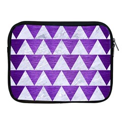 Triangle2 White Marble & Purple Brushed Metal Apple Ipad 2/3/4 Zipper Cases by trendistuff