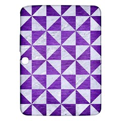 Triangle1 White Marble & Purple Brushed Metal Samsung Galaxy Tab 3 (10 1 ) P5200 Hardshell Case  by trendistuff
