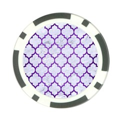 Tile1 White Marble & Purple Brushed Metal (r) Poker Chip Card Guard (10 Pack) by trendistuff
