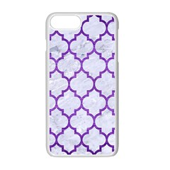 Tile1 White Marble & Purple Brushed Metal (r) Apple Iphone 7 Plus Seamless Case (white) by trendistuff