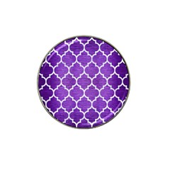 Tile1 White Marble & Purple Brushed Metal Hat Clip Ball Marker (10 Pack) by trendistuff