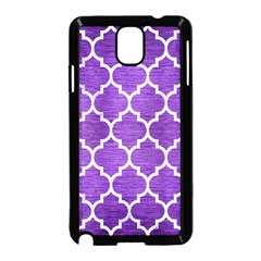 Tile1 White Marble & Purple Brushed Metal Samsung Galaxy Note 3 Neo Hardshell Case (black) by trendistuff
