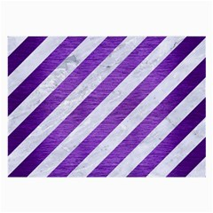 Stripes3 White Marble & Purple Brushed Metal (r) Large Glasses Cloth