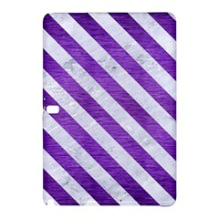 Stripes3 White Marble & Purple Brushed Metal Samsung Galaxy Tab Pro 12 2 Hardshell Case by trendistuff