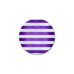Stripes2white Marble & Purple Brushed Metal Golf Ball Marker (10 Pack) by trendistuff
