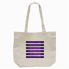 Stripes2white Marble & Purple Brushed Metal Tote Bag (cream) by trendistuff