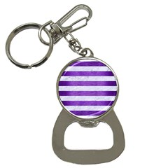 Stripes2white Marble & Purple Brushed Metal Bottle Opener Key Chains by trendistuff