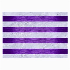 Stripes2white Marble & Purple Brushed Metal Large Glasses Cloth by trendistuff