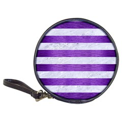 Stripes2white Marble & Purple Brushed Metal Classic 20 Cd Wallets by trendistuff