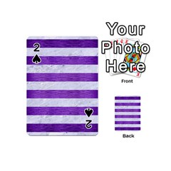 Stripes2white Marble & Purple Brushed Metal Playing Cards 54 (mini)  by trendistuff