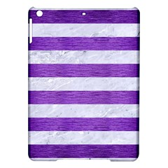 Stripes2white Marble & Purple Brushed Metal Ipad Air Hardshell Cases by trendistuff