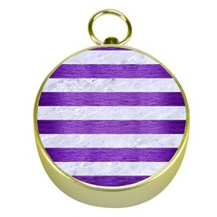Stripes2white Marble & Purple Brushed Metal Gold Compasses by trendistuff