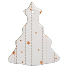 Background Salmon Pink White Motive Ornament (christmas Tree)  by Sapixe